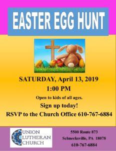 Easter Egg Hunt @ Union Lutheran Church