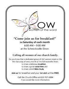WOW (Women of the Word) @ Schnecksville Diner