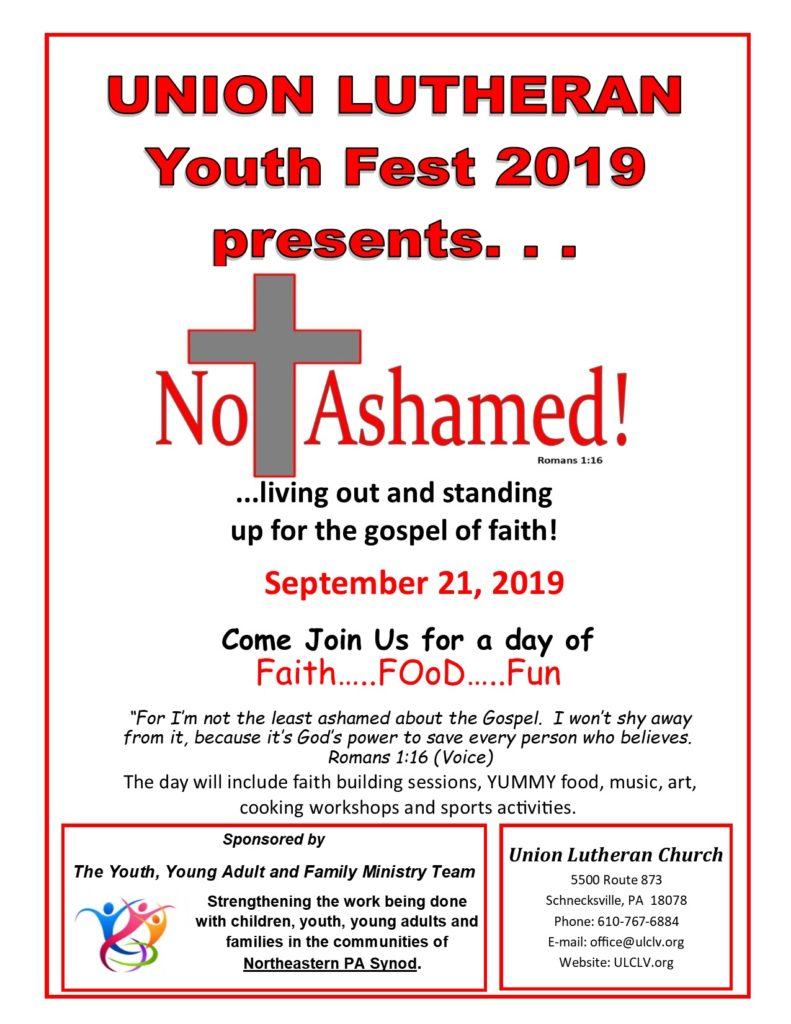 Youth Fest 2019 Flyer YOYOFA