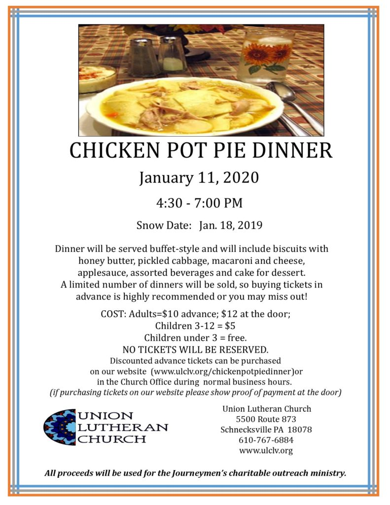 Chicken Pot Pie Dinner