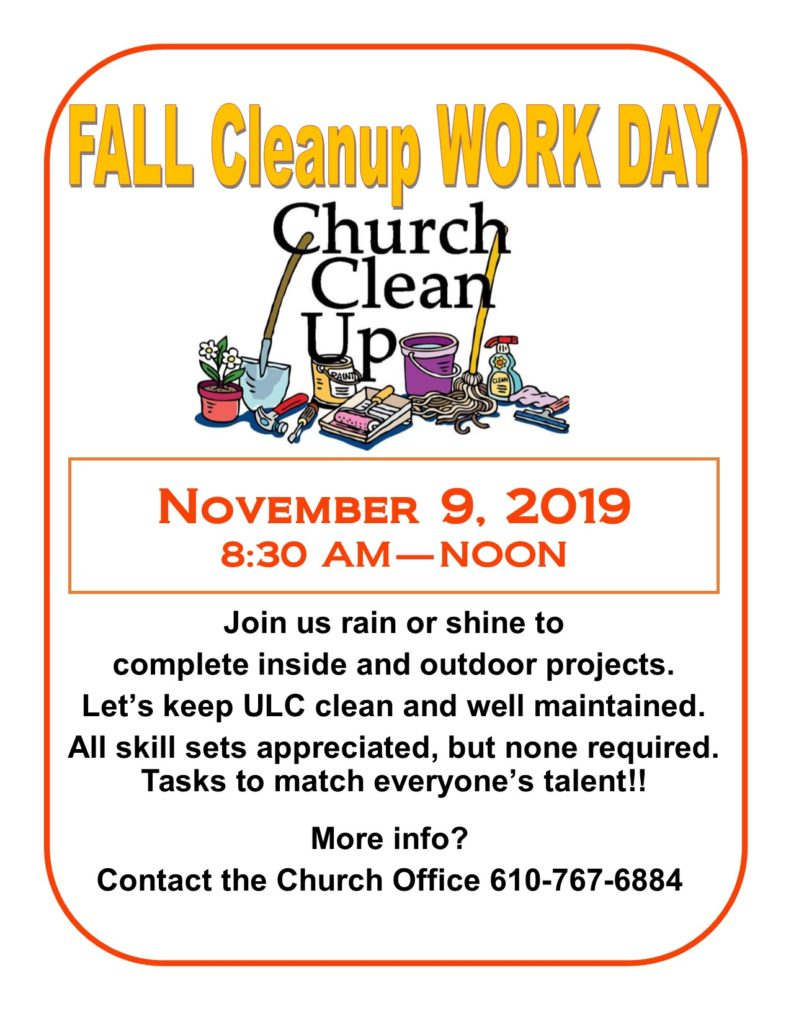 FALL Clean up WORK DAY